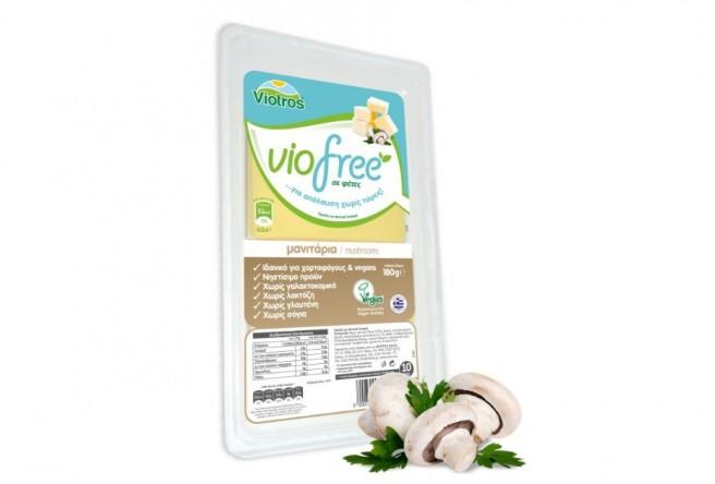 Φυτικό Προϊόν Μανιτάρι σε Φέτες 180γρ. Viofree