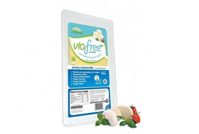 Φυτικό Προϊόν Mozzarella σε Φέτες 180γρ. Viofree