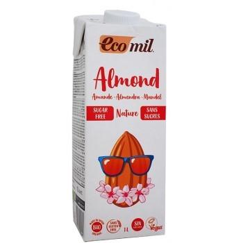 ΒΙΟ Ρόφημα Αμυγδάλου Φυσικό Χωρίς Ζάχαρη 1lt ECOMIL