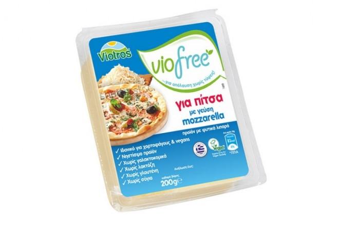 Φυτικό Προϊόν Block γεύση Mozzarella 200γρ. Viofree