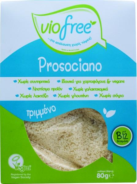 Φυτικό Prosociano Τριμμένο με γεύση Παρμεζάνα 80γρ. Viofree
