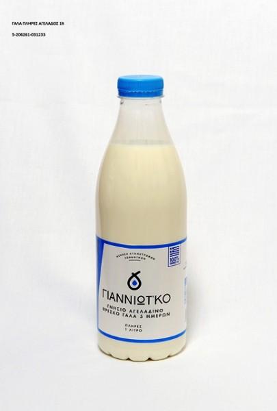Γάλα Αγελαδινό Πλήρες Γιαννιώτ'κο Λίτρου