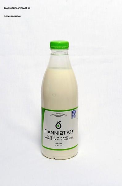 Γάλα Αγελαδινό Ελαφρύ Γιαννιώτ'κο Λίτρου