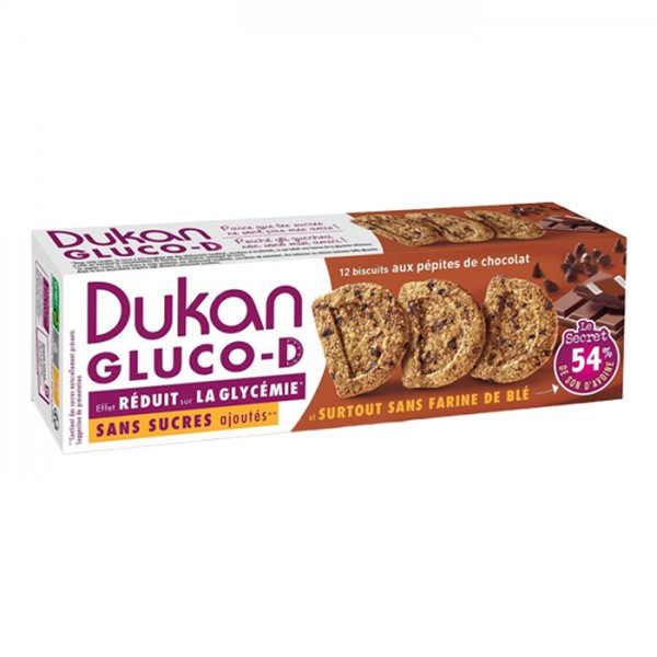 Μπισκότα Βρώμης GLUCO-D με Κομμάτια Σοκολάτας 100γρ. Dukan