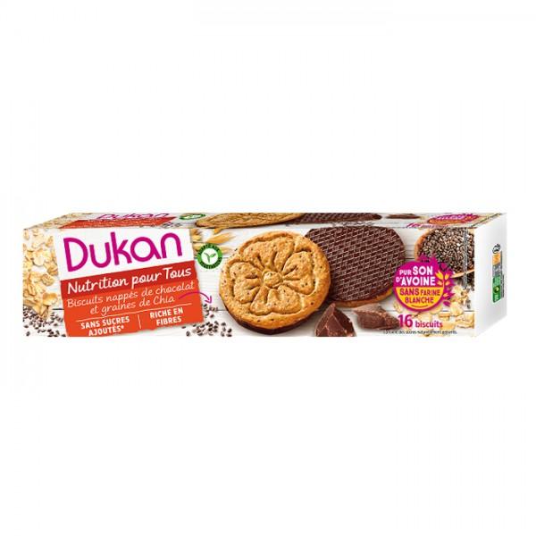 Μπισκότα Βρώμης με Επικάλυψη Σοκολάτας και Σπόρους Chia 160gr Dukan