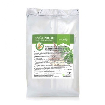 Konjac Flour Αλεύρι Κόντζακ ( Σκόνη Γλυκομανάνη ) NoCarb 100gr