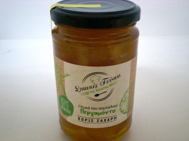 Γλυκό Κουταλιού Περγαμόντο Χωρίς Ζάχαρη 380γρ. Σπιτικές Γεύσεις της Χρύσας