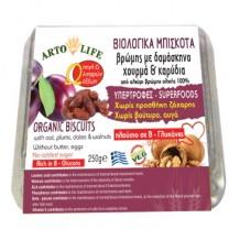 Βιολογικά Μπισκότα Βρώμης με Δαμάσκηνα, Χουρμάδες και Καρύδια Artolife