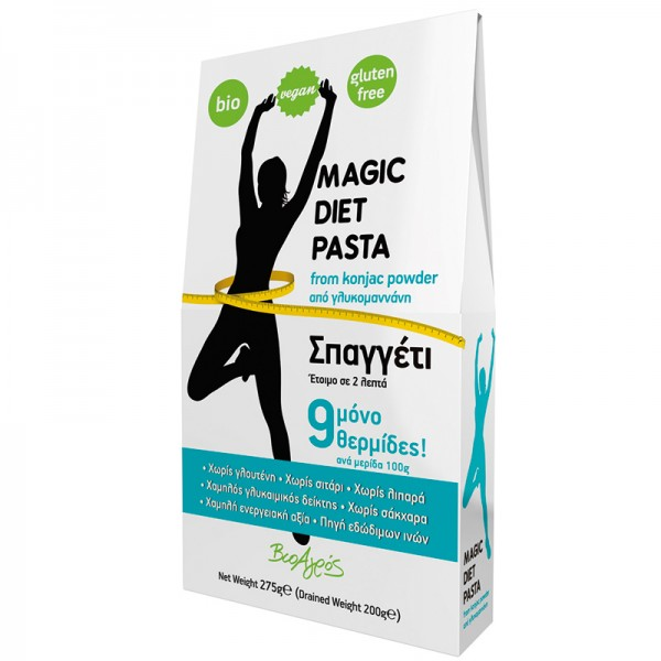 ΒΙΟ Σπαγγέτι Konjac από Γλυκομαννάνη Magic Diet 275γρ.