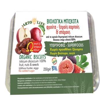 Βιολογικά Μπισκότα με Φρούτα,Ξηρούς Καρπούς και Σπόρους Artolife