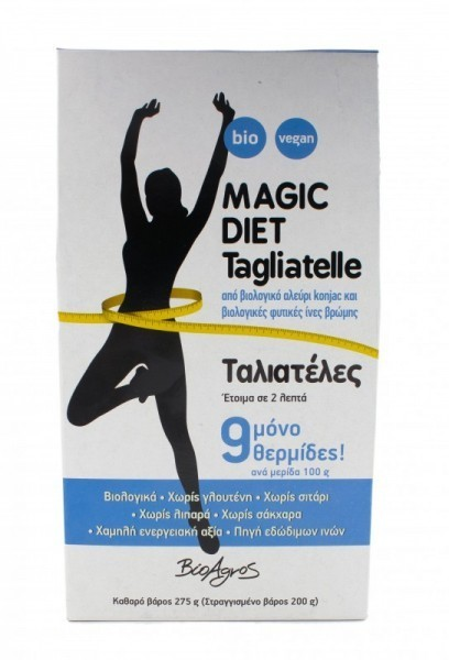 ΒΙΟ Ταλιατέλες Konjac από Γλυκομαννάνη Magic Diet 275γρ.