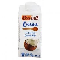 ΒΙΟ Κρέμα Μαγειρικής Καρύδας 200ml Eco Mil