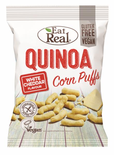 Eat Real Quinoa Puff Cheddar 113g.