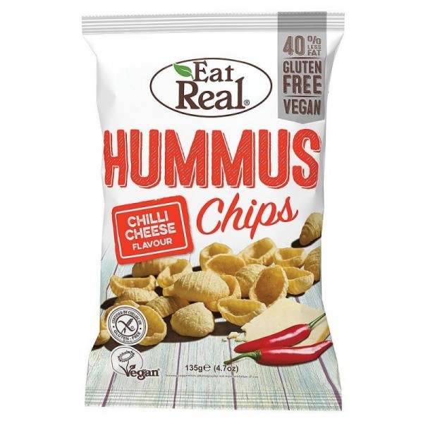 Eat Real - Hummus Chips Chilli Cheese 135g