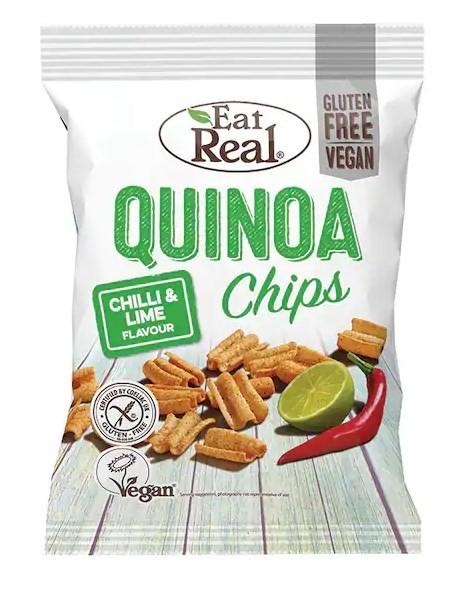 Eat Real Chips με Κινόα, Chilli & Lime 80gr