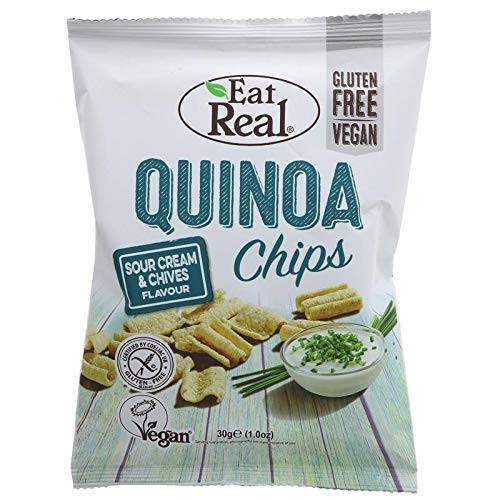 Eat Real Quinoa Chips Sour Cream and Chives Flavour 100g
